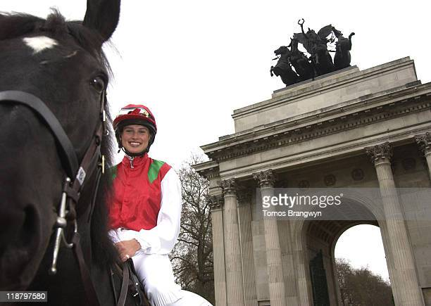 Francesca Cumani face of Vodafone Derby 2006 during Vodafone Derby Festival 2006 Photocall at Wellington Arch in London Great Britain