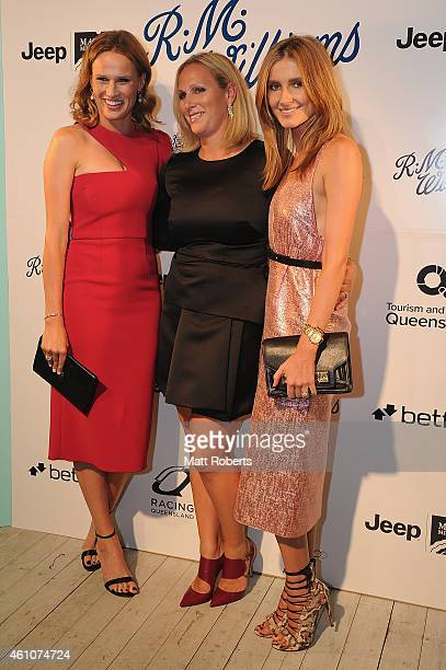 Francesca Cumani Zara Phillips and Kate Waterhouse attends the Opening night event for Magic Millions Raceday on January 6 2015 on the Gold Coast...