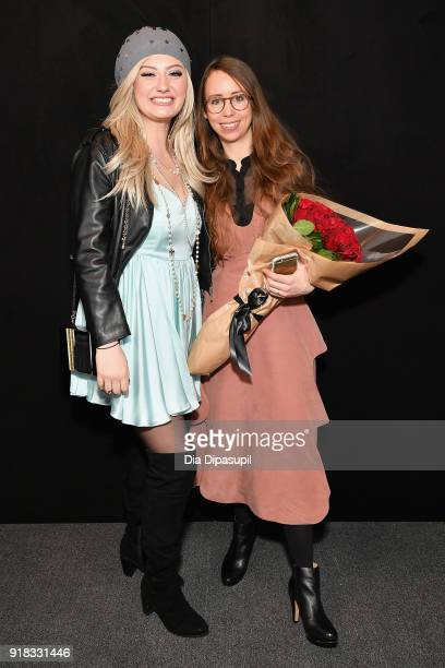 Francesca Curran and Leanne Marshall poses backstage for Leanne Marshall during New York Fashion Week The Shows at Gallery II at Spring Studios on...