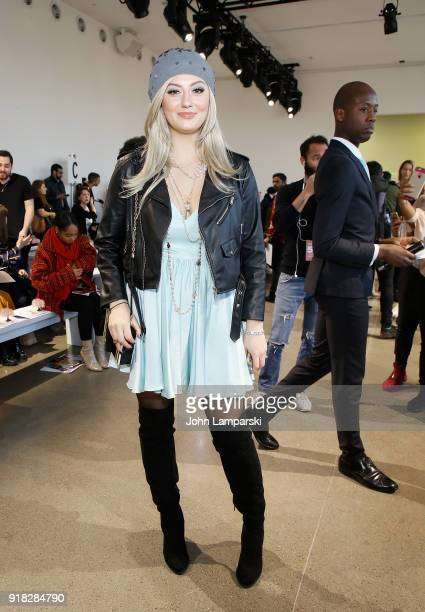 Francesca Curran attends Leanne Marshall show during February 2018 New York Fashion Week The Shows at Gallery II at Spring Studios on February 14...