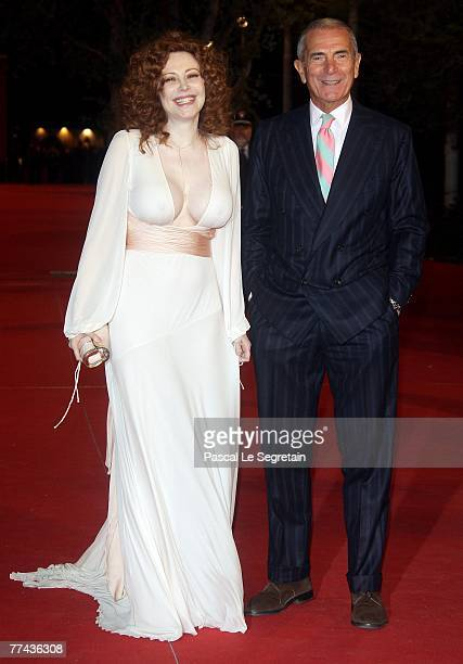 Francesca Dellera and Carlo Rossella attend a premiere for the movie 'Silk' during day 4 of the 2nd Rome Film Festival on October 21 2007 in Rome...
