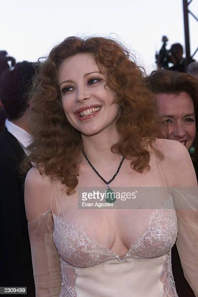 Francesca Dellera arrives at the premiere for the film 'The Pledge' at the 54th Cannes Film Festival in Cannes France Photo by Evan Agostini/Getty...