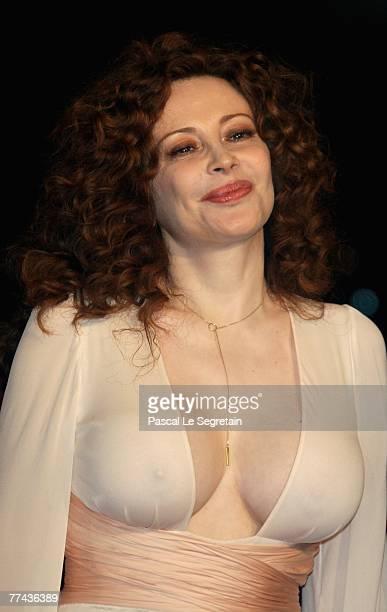 Francesca Dellera attends a premiere for the movie 'Silk' during day 4 of the 2nd Rome Film Festival on October 21 2007 in Rome Italy