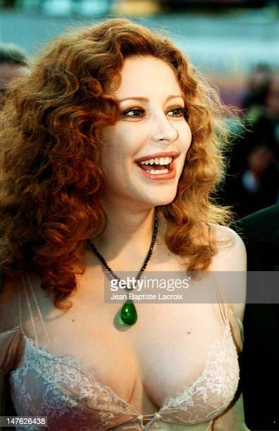 Francesca Dellera during Cannes Film Festival 2001 at Palais des Festivals in Cannes France