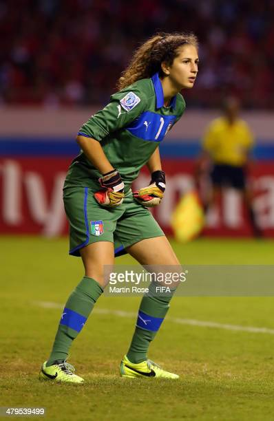 Francesca Durante goalkeeper of Italy looks on during the FIFA U17 Women's World Cup 2014 group A match between Costa Rica and Italy at Estadio...