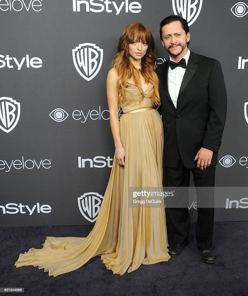 Francesca Eastwood and Clifton Collins Jr. arrive at the 18th Annual Post-Golden Globes Party hosted by Warner Bros. Pictures and InStyle at The Beverly Hilton Hotel on January 8, 2017 in Beverly Hills, California.