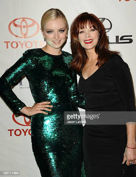 Francesca Eastwood and Frances Fisher attend the 2012 Environmental Media Awards at Warner Bros Studios on September 29 2012 in Burbank California