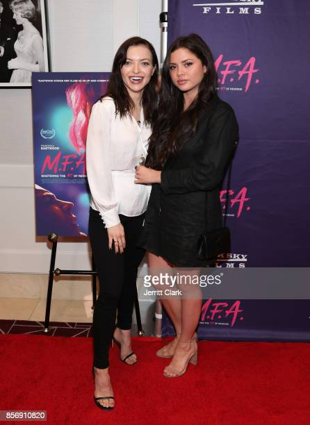 Francesca Eastwood and sister Morgan Eastwood attend the Premiere Of Dark Sky Films' MFA at The London West Hollywood on October 2 2017 in West...