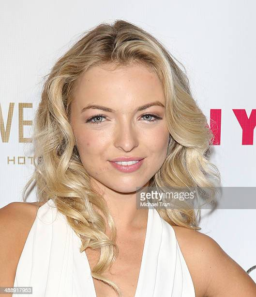 Francesca Eastwood arrives at the Nylon Magazine May Young Hollywood Issue Party held at Tropicana Bar at The Hollywood Rooselvelt Hotel on May 8...