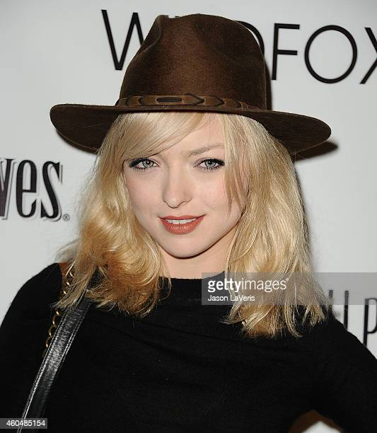 Francesca Eastwood attends the Wayke Up fundraiser at Sofitel Hotel on December 14 2014 in West Hollywood California