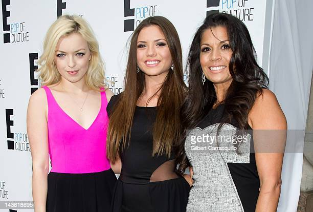 Francesca Eastwood Morgan Eastwood and Dina Eastwood of 'Mrs Eastwood Company' attend E Networks 2012 Upfront at Gotham Hall on April 30 2012 in New...