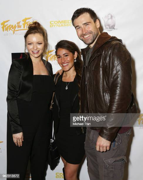 Francesca Eastwood Q'orianka Kilcher and Sean Stone attend the Los Angeles premiere of Comedy Dynamics' The Fury Of The Fist And The Golden Fleece...