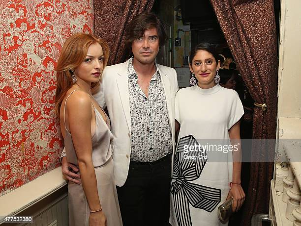Francesca Eastwood Victor Kubicek and Arden Wohl attend the Casa Reale Fine Jewelry Launch at The Box on June 17 2015 in New York City
