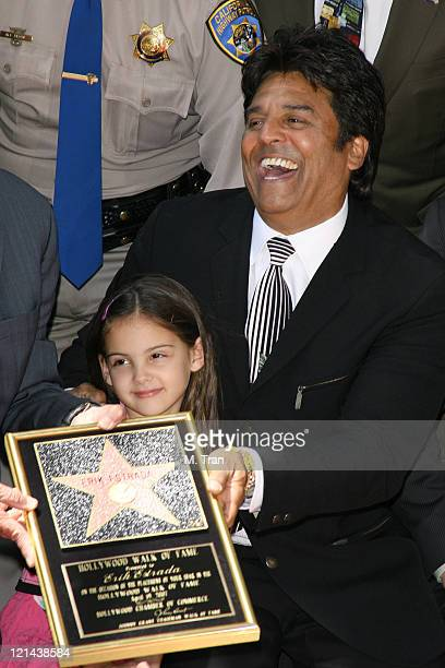 Francesca Estrada and Erik Estrada during Erik Estrada Honored with a Star on the Hollywood Walk of Fame at 7021 Hollywood Blvd in front of DSW Shoes...