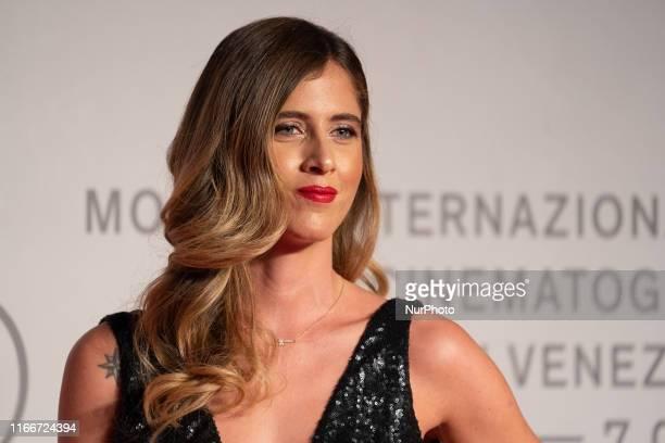 Francesca Ferragni walks the red carpet ahead of the ''Chiara Ferragni Unposted'' screening during the 76th Venice Film Festival at Sala Giardino on...