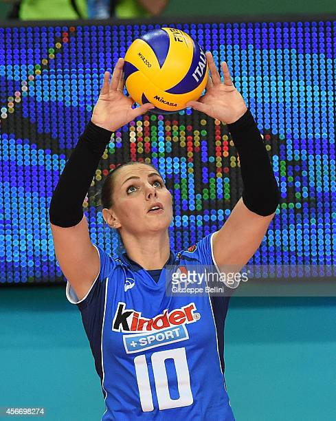 Francesca Ferretti of Italy in action during the FIVB Women's World Championship pool E match between Italy and China on October 5, 2014 in Bari,...