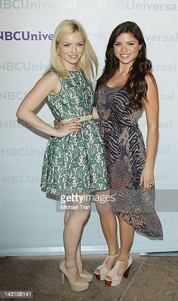 Francesca FisherEastwood and Morgan Eastwood arrive at the 2012 NBC Universal Summer press day hled at The Langham Huntington Hotel and Spa on April...