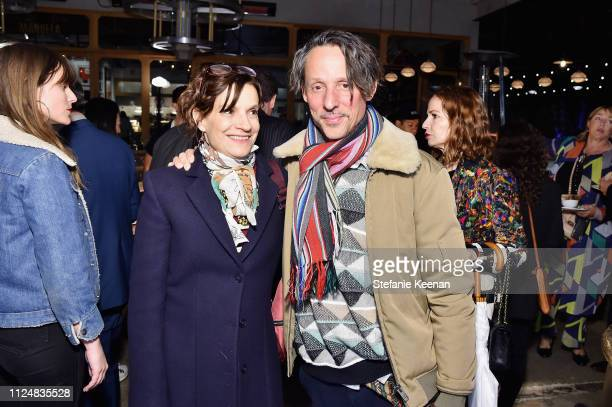 Francesca Gabbiani and Eddie Ruscha attend Hauser Wirth Los Angeles Opening of Annie Leibovitz and Piero Manzoni and Musical Performance by Patti...