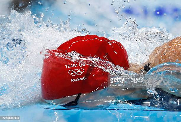 Francesca Halsall of Great Britain competes in the Women's 50m Freestyle Final on Day 8 of the Rio 2016 Olympic Games at the Olympic Aquatics Stadium...
