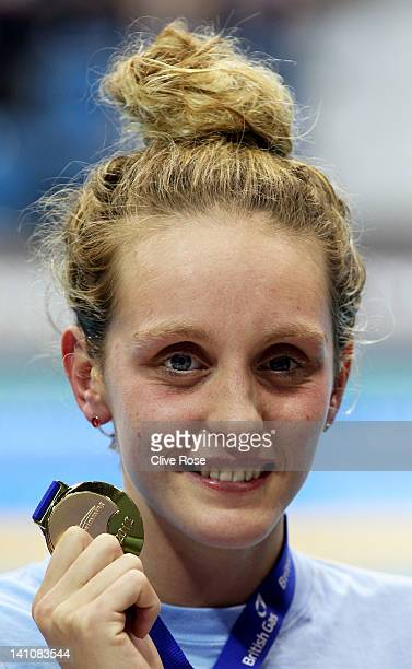 Francesca Halsall of Loughborough University S WPC wins the Gold medal in the Women's 50m Freestyle Final during day eight of the British Gas...