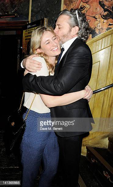 Francesca Hammerstein and Dexter Fletcher attend a private screening of Dexter Fletcher's directorial debut 'Wild Bill' hosted by chef Jamie Oliver...