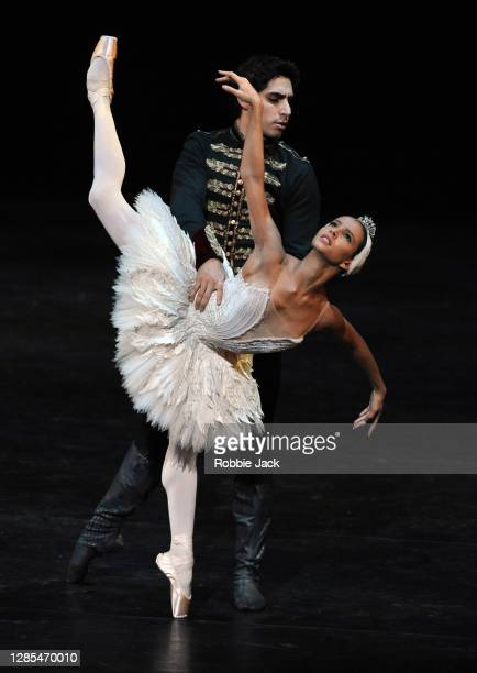 Francesca Hayward and Cesar Corrales in The Royal Ballet's production of Swan Lake at The Royal Opera House on November 12, 2020 in London, England.