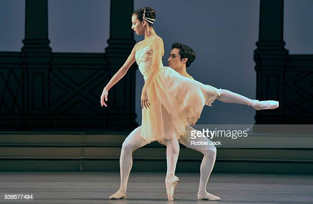 Francesca Hayward and James Hay in the Royal Ballet's production of Frederick Ashton's Rhapsody at the Royal Opera House Covent Garden in London