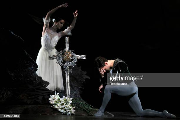 Francesca Hayward as Giselle and Alexander Campbell as Albrecht in the Royal Ballet's production of Peter Wright's adaptation of Marius Petipa's...
