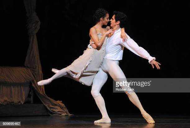 Francesca Hayward as Manon and Federico Bonelli as Des Grieux in the Royal Ballet's production of Kenneth MacMillan's Manon at the Royal Opera House...