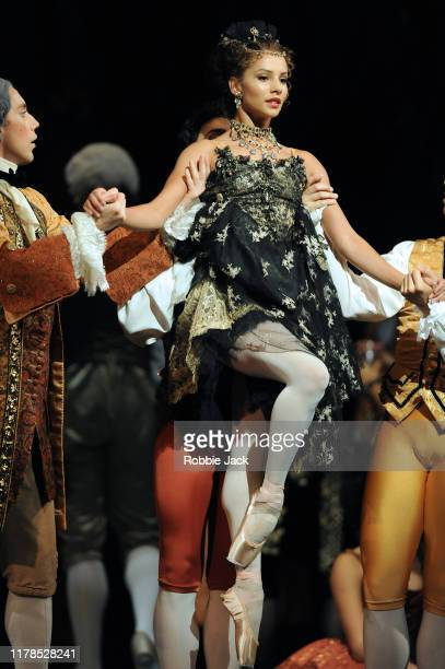 Francesca Hayward as Manon with artists of the company in Kenneth MacMillan's Manon at The Royal Opera House on October 1 2019 in London England