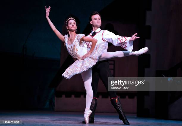 Francesca Hayward as Swanilda and Alexander Campbell as Franz in The Royal Ballet's Production Of Ninette De Valois' Coppelia at The Royal Opera...