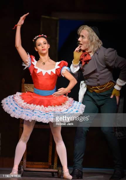 Francesca Hayward as Swanilda and Gary Avis as Dr Coppelius in The Royal Ballet's Production Of Ninette De Valois' Coppelia at The Royal Opera House...