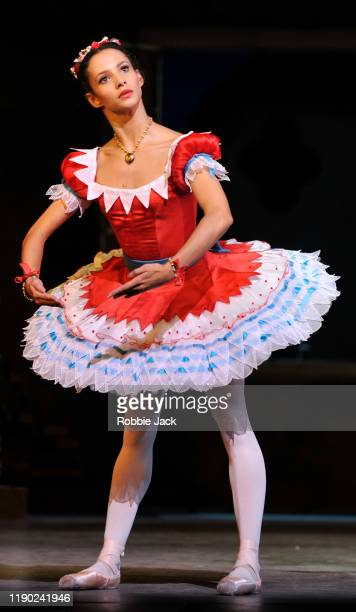 Francesca Hayward as Swanilda in The Royal Ballet's Production Of Ninette De Valois' Coppelia at The Royal Opera House on November 26 2019 in London...