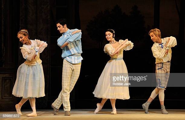 Francesca Hayward as Vera Federico Bonelli as Beliaev Natalia Osipova as Natalia Petrovna and James Hay as Kolia in the Royal Ballet's production of...