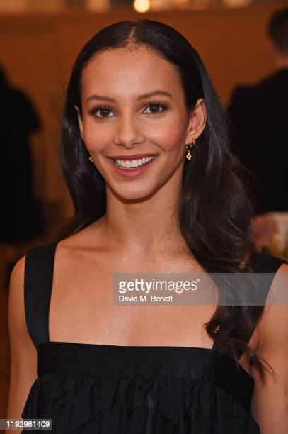 Francesca Hayward attends the press night preshow reception for La Boheme at The Royal Opera House on January 10 2020 in London England