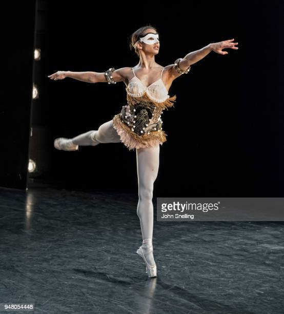 Francesca Hayward from the Royal Ballet Company performs on stage as The Viviana Durante Company celebrates the choreography of Kenneth MacMillan...
