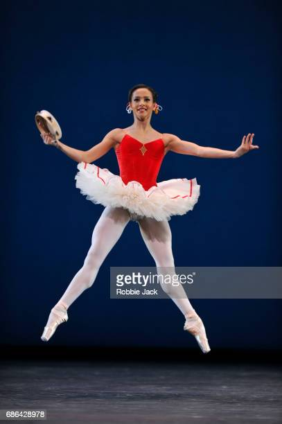 Francesca Hayward in the Royal Ballet's production of George Balanchine's Tarantella at The Royal Opera House on May 18 2017 in London England