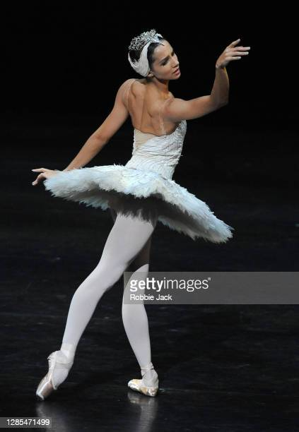 Francesca Hayward in The Royal Ballet's production of Swan Lake at The Royal Opera House on November 12, 2020 in London, England.