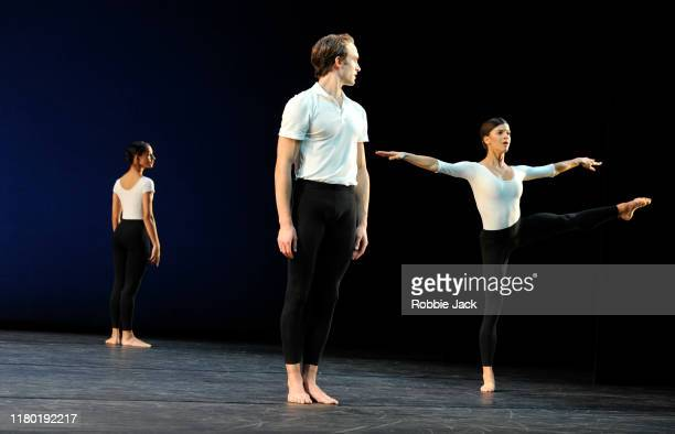 Francesca Hayward, Matthew Ball and Mayara Magri in the Royal Ballet's production of Merce Cunningham's Cross Currents as part of the Merce...