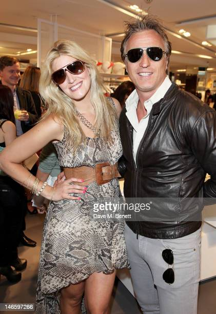 Francesca Hull and David Ginola attend the launch of Lacoste's new London Flagship store in Knightsbridge on June 20 2012 in London England
