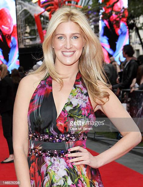 Francesca Hull arrives at the UK Premiere of 'The Amazing SpiderMan' at Odeon Leicester Square on June 18 2012 in London England