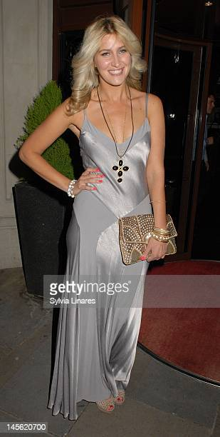 Francesca Hull is seen outside of her 26th birthday party held at The Sanctum Soho Hotel on June 2 2012 in London England