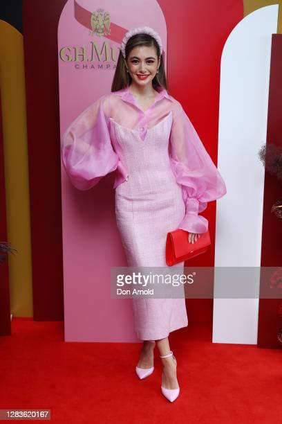 Francesca Hung attends the G.H. Mumm Melbourne Cup Carnival celebrations on November 03, 2020 in Sydney, Australia.