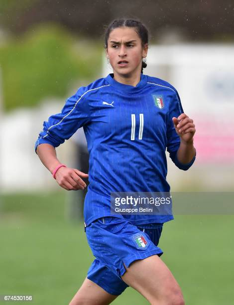 Francesca Imprezzabile of Italy U16 in action during the 2nd Female Tournament 'Delle Nazioni' match between Italy U16 and Belgium U16 on April 28,...