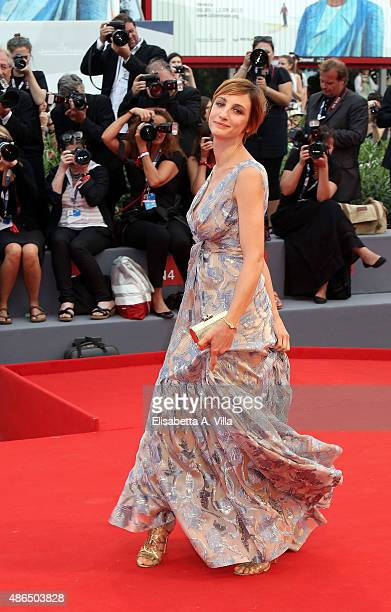 Francesca Inaudi attends a premiere for 'Black Mass' during the 72nd Venice Film Festival on September 4 2015 in Venice Italy