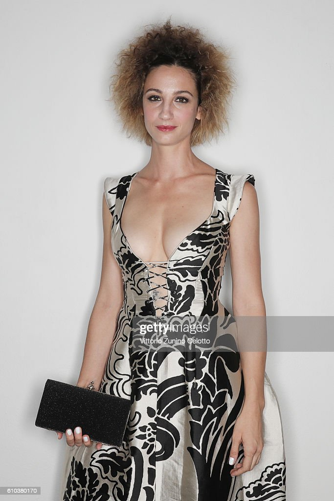 Francesca Inaudi poses for a portrait during amfAR Milano 2016 at La Permanente on September 24, 2016 in Milan, Italy.