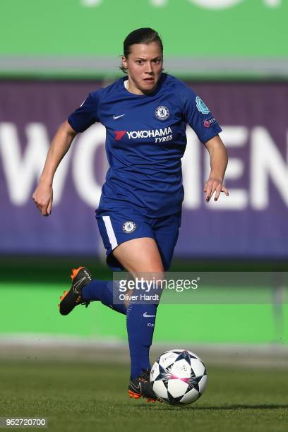 Francesca Kirby of Chelsea in action during the Women's UEFA Champions League semi final second leg match between VfL Wolfsburg and FC Chelsea at AOK...