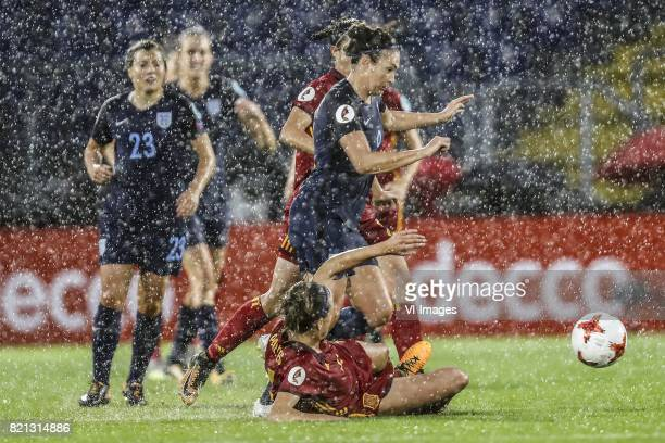 Francesca Kirby of England women Jodie Taylor of England women Irene Paredes of Spain women during the UEFA WEURO 2017 Group D group stage match...
