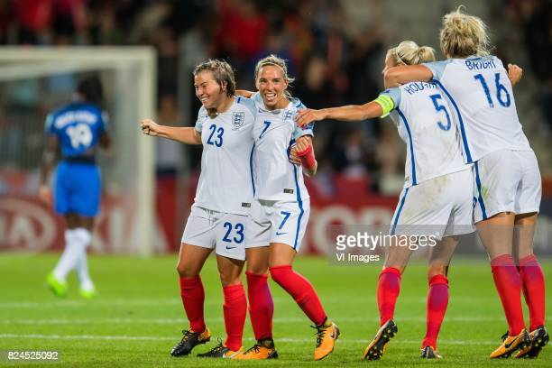 Francesca Kirby of England women Jordan Nobbs of England women Steph Houghton of England women Millie Bright of England women during the UEFA WEURO...