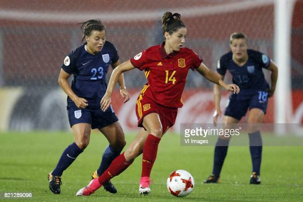 Francesca Kirby of England women Vicky Losada of Spain women Ellen White of England women during the UEFA WEURO 2017 Group D group stage match...